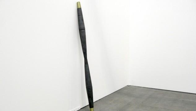 Kevin Hunt, Stem, Burnt wood and brass, 2011