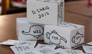 Hand Drawn David Shrigley Boxes for auction