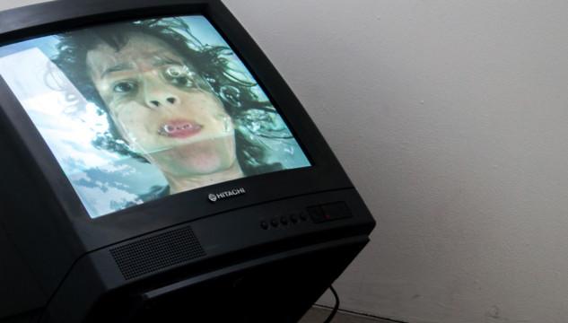 Dina Danish, Lip Sinking in Water, 2008. Photo: Warren Fournier, 2013
