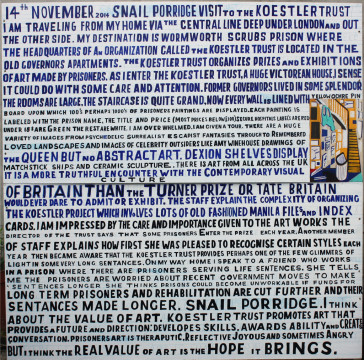 Bob and Roberta Smith_Trip to the Koestler Trust_2014