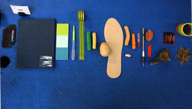 Collection of objects used by artist Beth Kettel