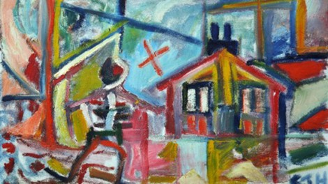 CJ Holme, Untitled (Figure with House), undated