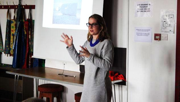 Steph Graham giving a presentation