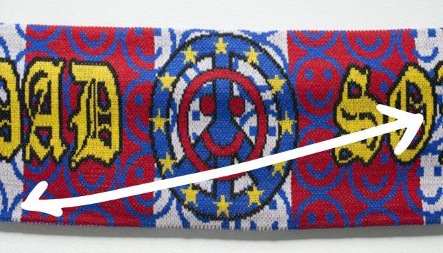 Connor Brazier, Superpowerless, 2017, Installation detail, Acrylic scarves
