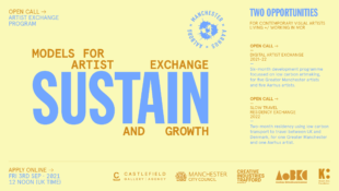 Blue SUSTAIN logo on sand-coloured background, with supporting info