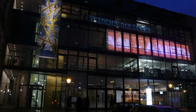 The exterior of the Akademie der künste, Berlin,